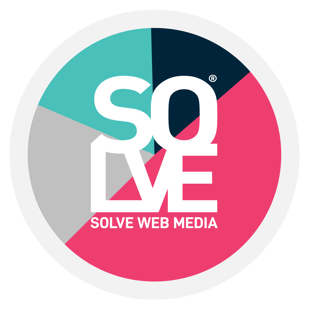 Solve Logo over white with tag 2020